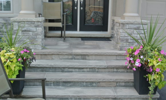 Stone Entrance in Oakville
