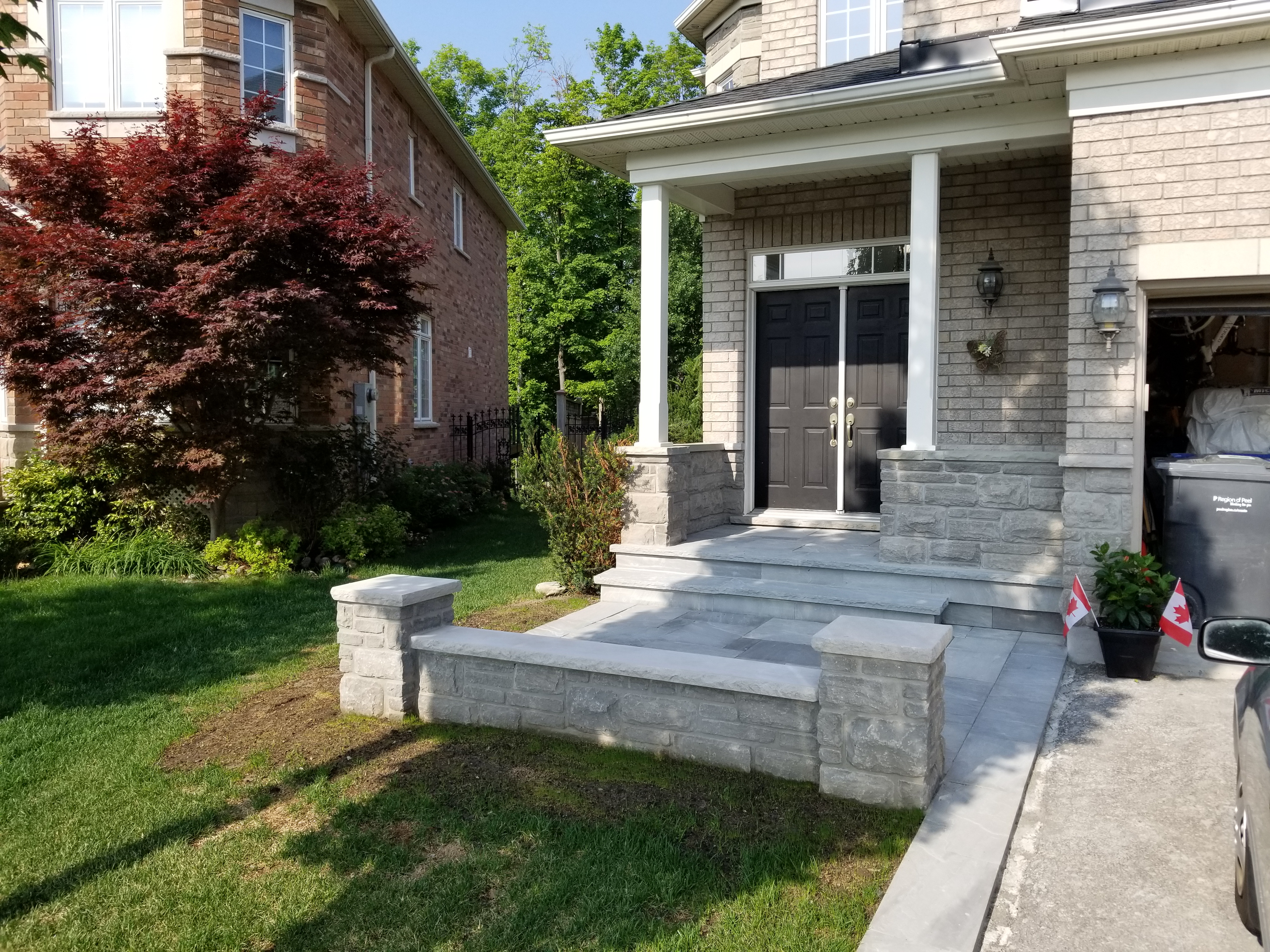 Stone Porch in Brampton